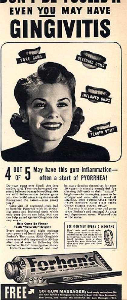 Forhan's Toothpaste (1940)