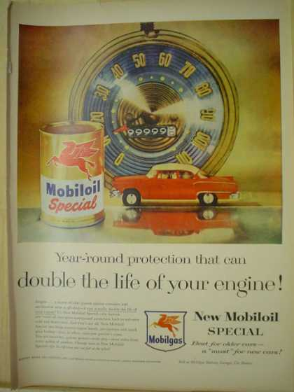 Mobil. MobilOil special. Year round protection (1956)