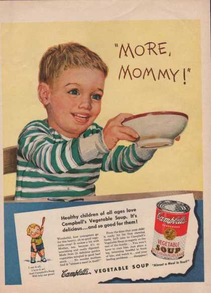 Campbells Vegetable Soup More Mommy (1950)
