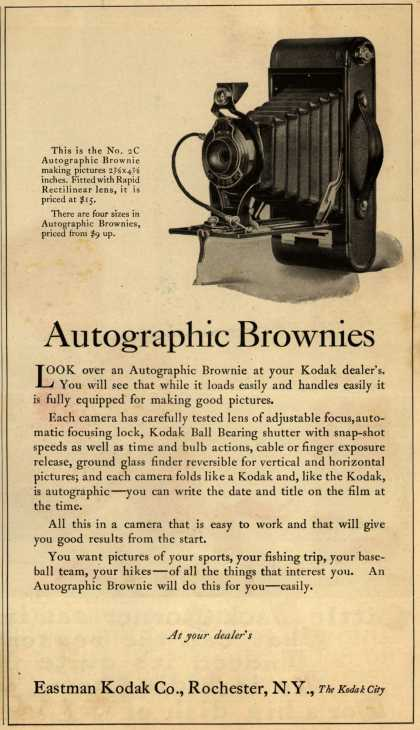 Kodak's Autographic Brownie cameras – Autographic Brownies (1923)