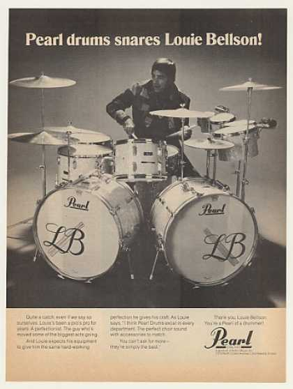 Louie Bellson Pearl Drums Photo (1974)