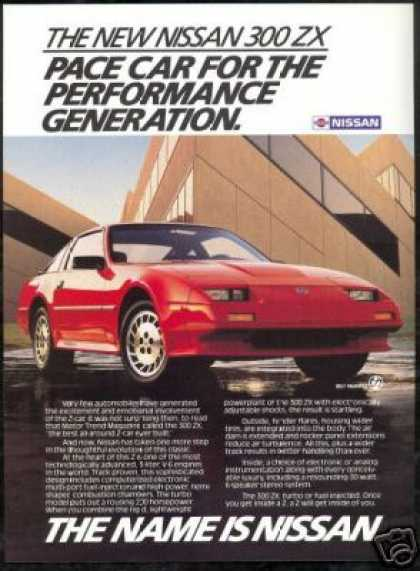Red Nissan 300 ZX Turbo 300ZX Photo (1986)