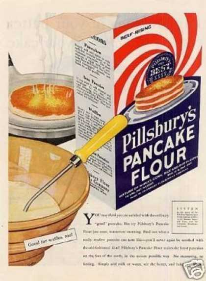 Pillsbury's Pancake Flour Color (1931)