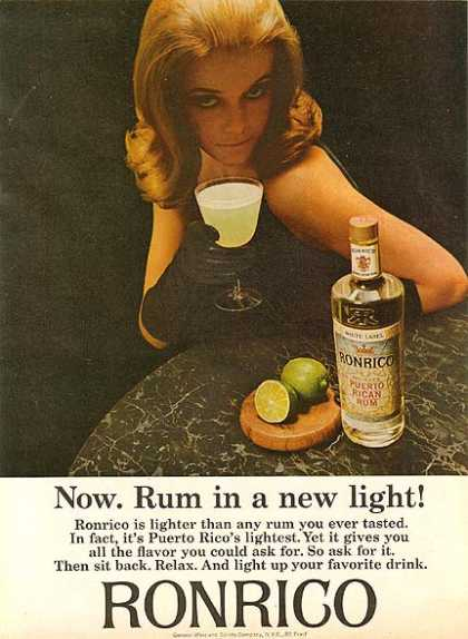 Ronrico's White Label Light Rum (1965)