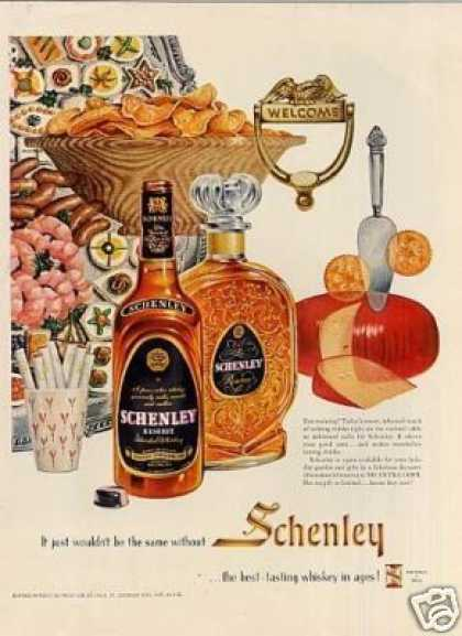 Schenley Whiskey (1954)
