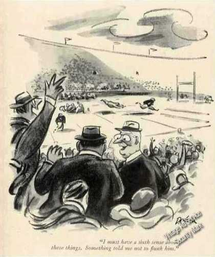 New Yorker Football Cartoon By Eldon Dedini Print (1957)