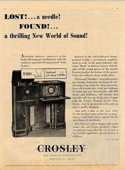Crosley Radio-phonograp (1944)
