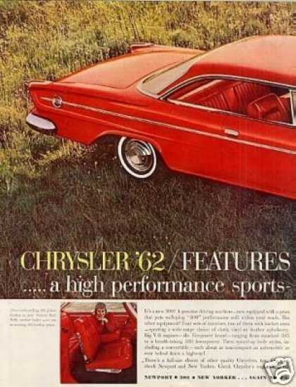 Chrysler 300 Car Ad 2 Page (1962)