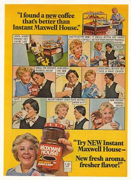 Maxine New Instant Maxwell House Coffee (1976)