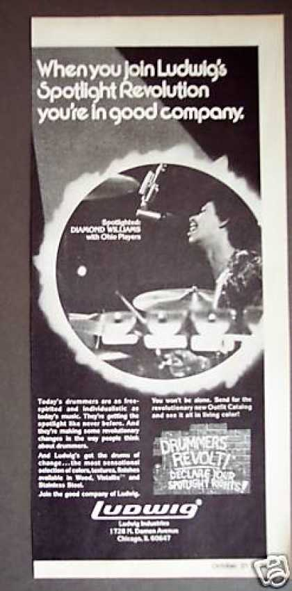Drummer Diamond Williams Ludwig Drums (1975)