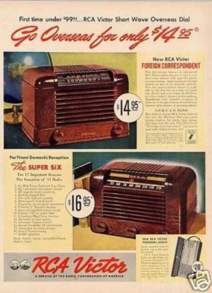'41 Rca Victor Radio Ad Super Six/foreign Correspondent (1941)