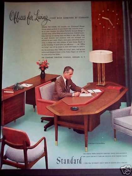 Luxury 1978 Sears Office Furniture Ad Files Desk Chair.