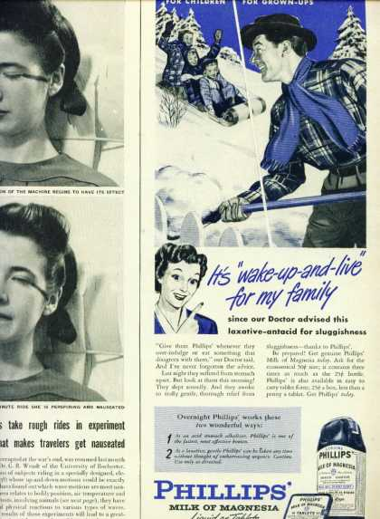 Phillips Milk of Magnesia Laxative C 1/2 Page (1954)