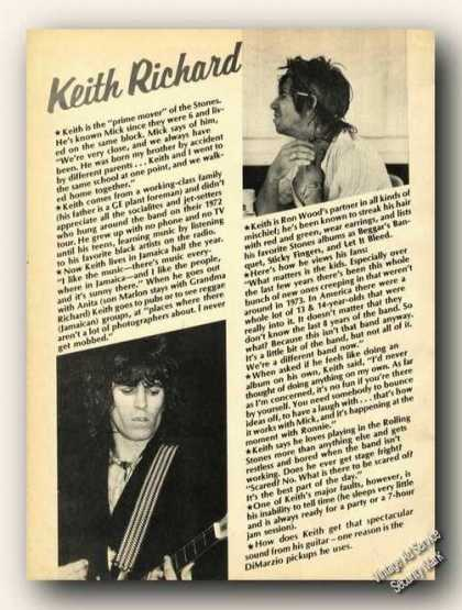 Keith Richard Photos Print Feature (1978)
