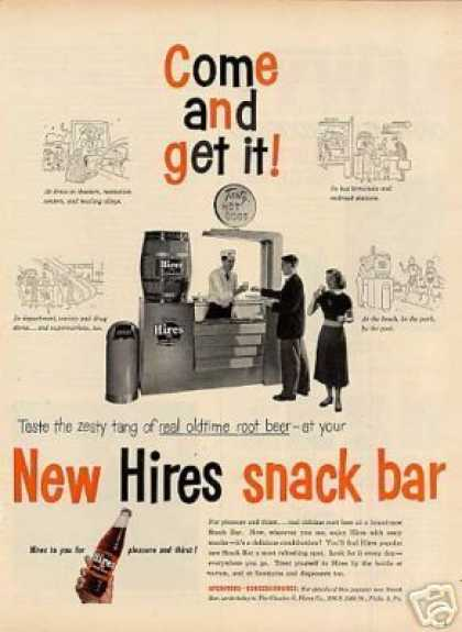 Hires Root Beer Ad Snack Bar (1953)