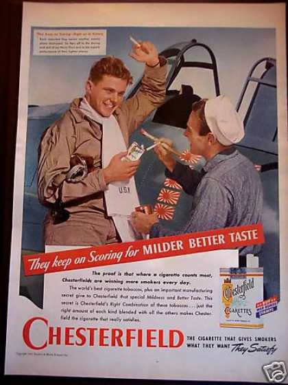 Chesterfield Cigarettes Navy Fliers (1943)