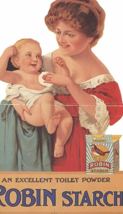 Robin Starch, Edwardian Products, Detergent, Baby, UK (1911)
