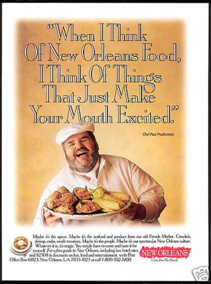 New Orleans Travel Chef Paul Prudhomme (1993)