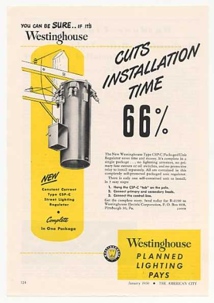 Westinghouse CSP-C Street Lighting Regulator (1950)