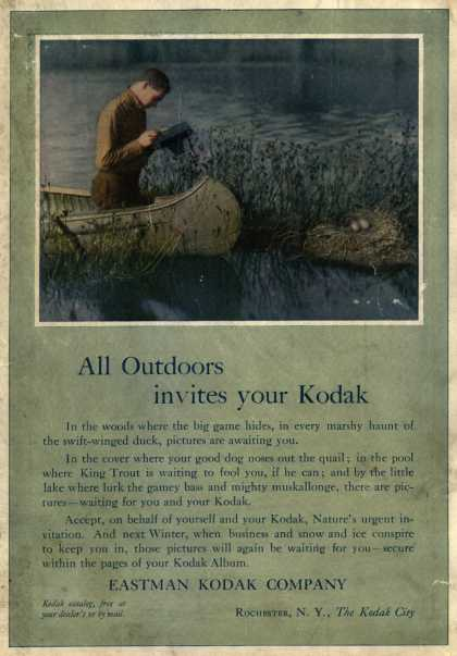 Kodak – All out-doors invites your Kodak (1910)