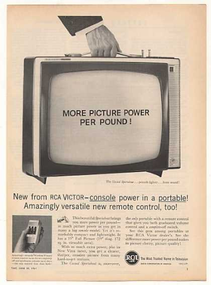 RCA Casual Sportabout Portable TV Television (1961)