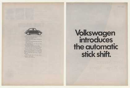 VW Bug Introduces Automatic Stick Shift (1968)