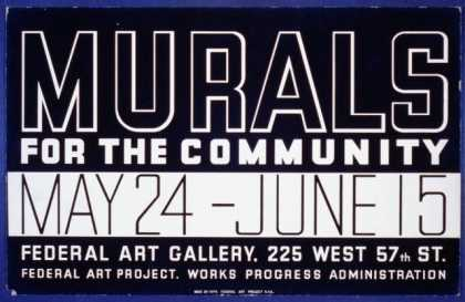 Murals for the community. (1936)