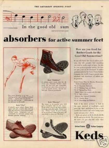 Keds Shoes Color Ad 2 Page (1929)