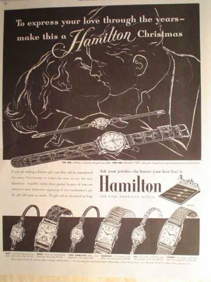 "Hamilton Watches Christmas ""express your love"" (1952)"