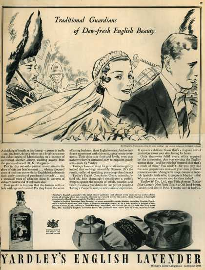 Yardley & Co., Ltd.'s Yardley's Old English Lavender – Traditional Guardians of Dew-Fresh English Beauty (1935)