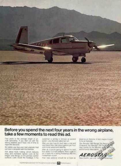 "Aerostar Photo ""4 Years In Wrong Airplane"" (1970)"