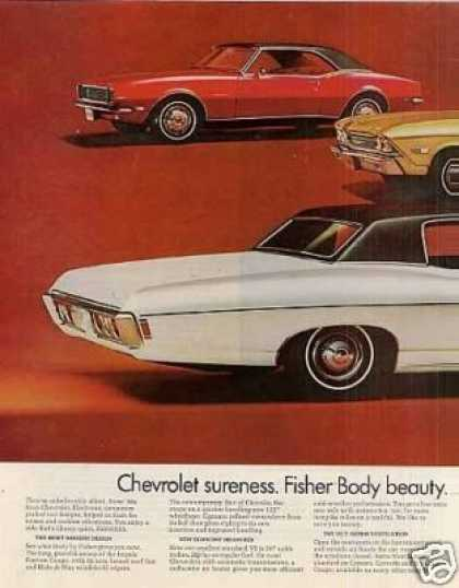 Chevrolet Cars Ad 2 Page (1968)