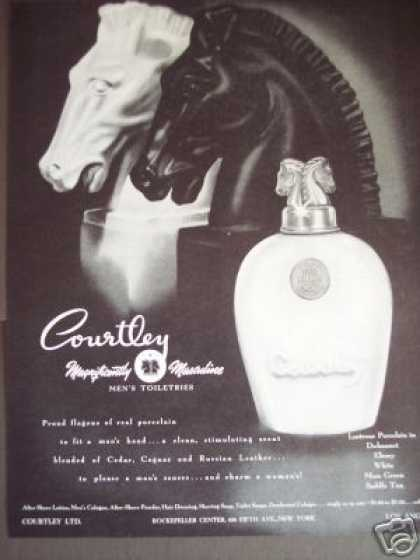 Courtley for Men Porcelain Horse Bottle (1945)