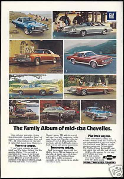 Chevrolet Chevelle Car 9 Photo Print Vintage (1974)