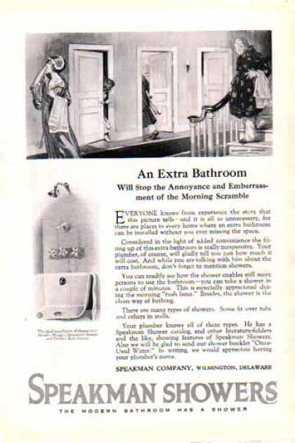 Speakman Showers – An Extra Bathroom (1924)