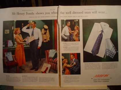 Arrow Shirt Co. Henry Fonda 2 pg (1950)