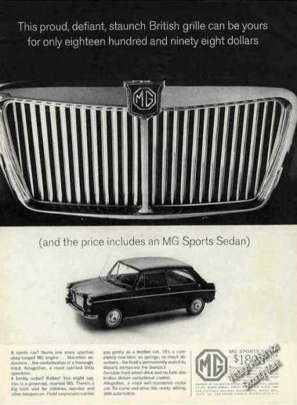 Mg Sports Sedan British Grille Car (1964)