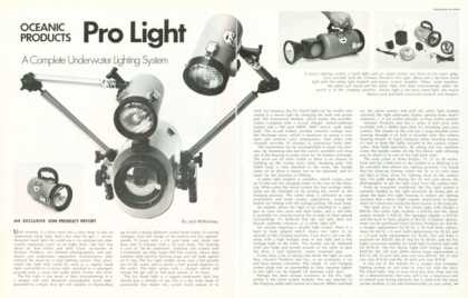 Oceanic Pro Light Underwater Photography Article (1973)