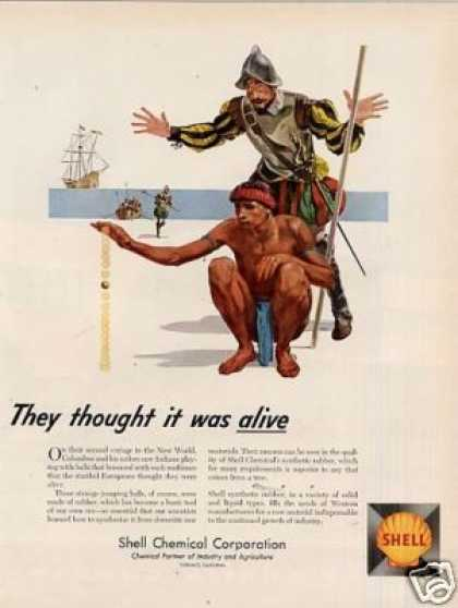 "Shell Ad ""They Thought It Was Alive... (1956)"