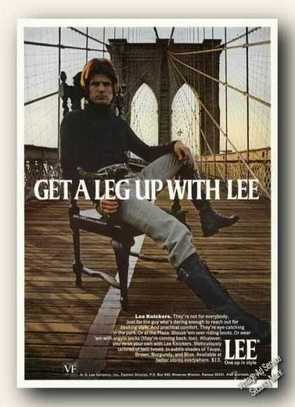 Lee Knickers Brooklyn Bridge Fashion (1971)