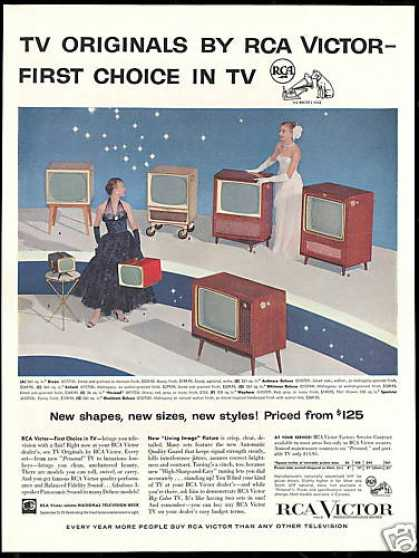 RCA Victor Assorted TV Television Photo (1956)