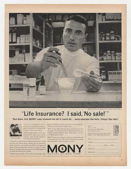 Pharmacist Spencer Platt MONY Insurance Photo (1962)