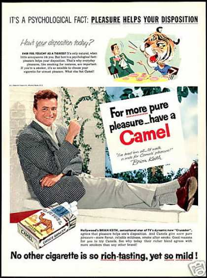 Brian Keith Photo Camel Cigarettes Vintage (1955)