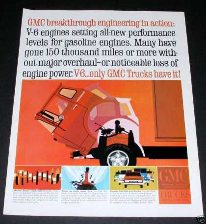 Gmc Trucks, V6 Engine, Tilt Cab (1964)
