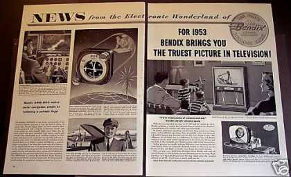 Bendix Tv Set, Omni-mag for Airplanes (1953)