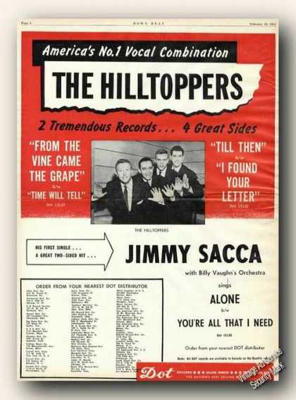 The Hilltoppers Picture Music Collectible (1954)