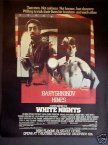 "Mikhail Baryshnikov, Hines ""White Nights"" Movie (1985)"