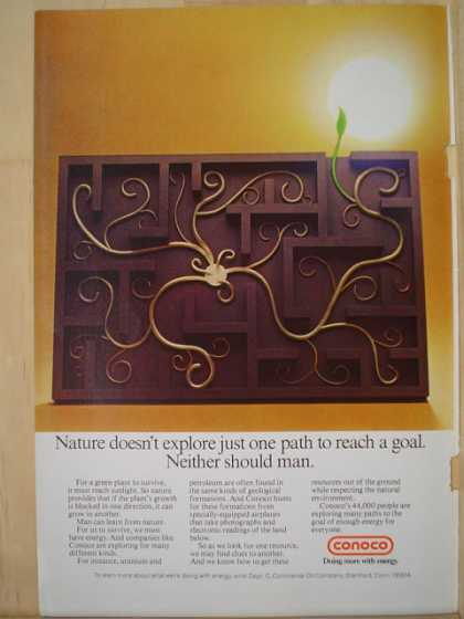 Conoco Nature doesn't explore just one path (1977)