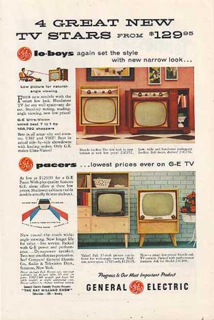 General Electric's 4 new Television Models (1955)