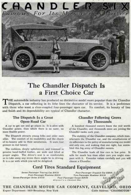 Chandler Dispatch Cleveland Oh Antique Car (1921)